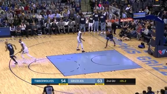 Conley is on fire from long range