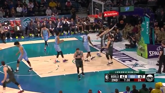 Rising Star Jaren Jackson Jr. soars in for the putback