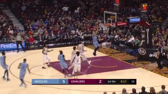 Ivan Rabb completes the lob from Conley