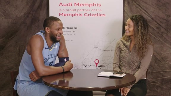 Alexis Morgan goes 1 on 1 with CJ Miles