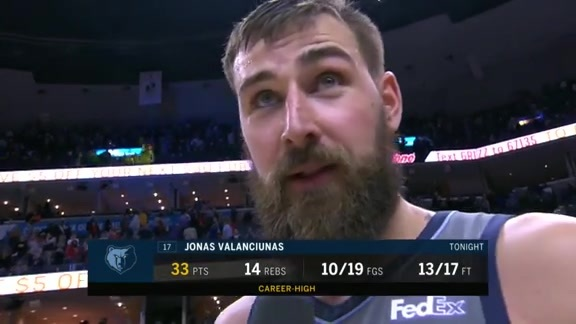 MEMvHOU: Jonas Valanciunas walkoff interview 3.20.19