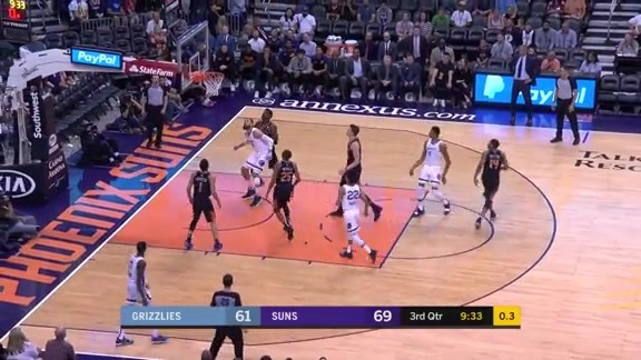 Bruno Caboclo arcs in a rainbow as time expires