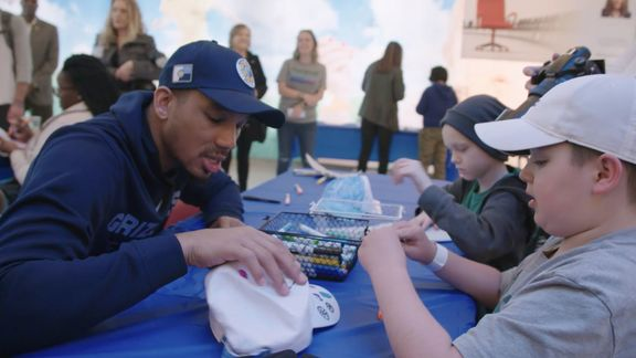 Avery Bradley visits St. Jude Children's Research Hospital Recap