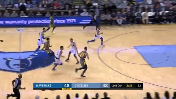 Parsons with the fast break finish