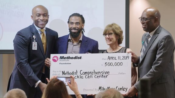Mike Conley announces $500,000 donation to Methodist Healthcare Comprehensive Sickle Cell Center