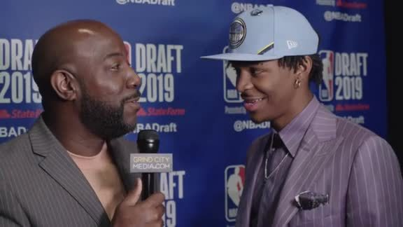 Ja Morant reacts to second overall pick in 2019 NBA Draft