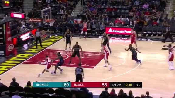 Bazemore Notches Team-High 25 Points Against Hornets