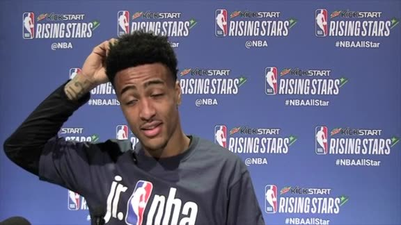 John Collins Answers Questions From Media at All Star Weekend