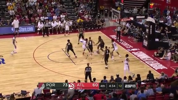Collins Dominates in Year Two of NBA Summer League