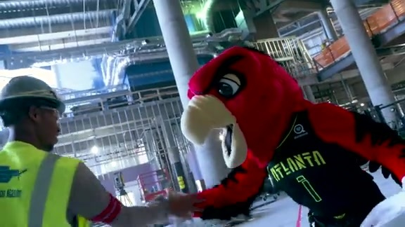 Harry The Hawk Takes On Transformed Philips Arena