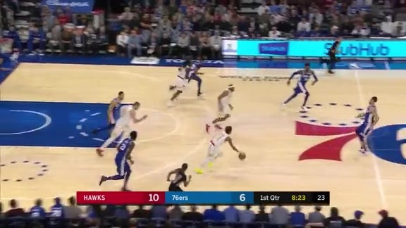 Bazemore Scores Team-High 18 Points Against Sixers