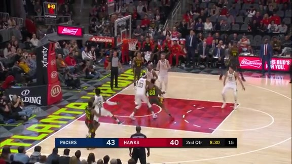 Bazemore Ties Career-High 32 Points vs. Pacers