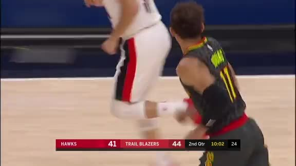 Trae Young Has A 30-Point Outing In Portland