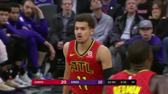Trae Young With Team-High 23 Points In Loss To Kings
