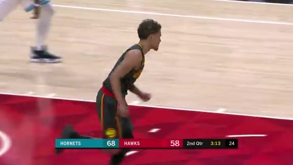 Trae Young Tallies Double-Double Against Hornets