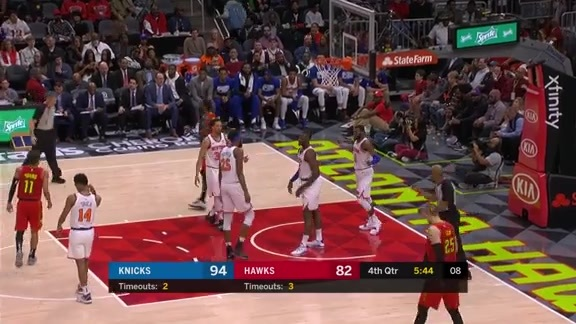 Trae Young Notches Double-Double Vs. Knicks