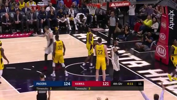 Collins Puts Up Impressive Double-Double vs. Pacers