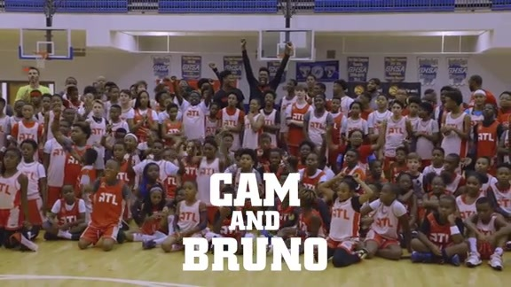 Cam Reddish & Bruno Fernando Surprise Jr. Hawks Campers