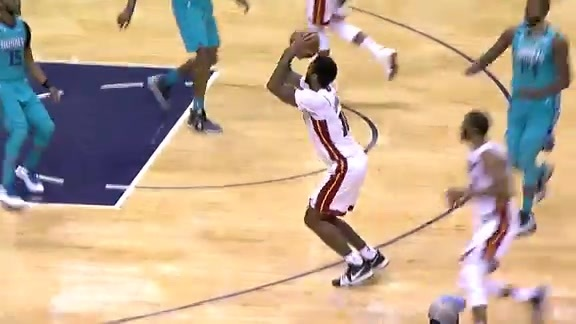 All Angles: James Johnson's 5-Point Sequence vs Hornets (1/20/18)