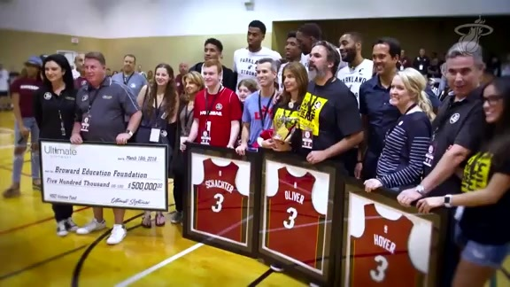 HEAT Visit Parkland Basketball League