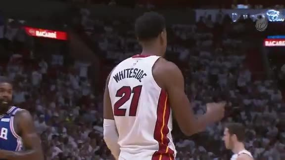 Whiteside Game 4 Highlights vs 76ers (4/21/18)