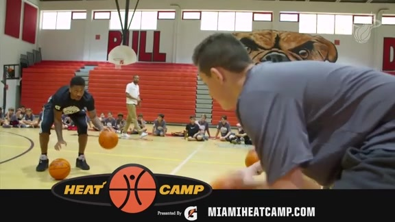 McGruder talks about the Miami Heat Summer Camp