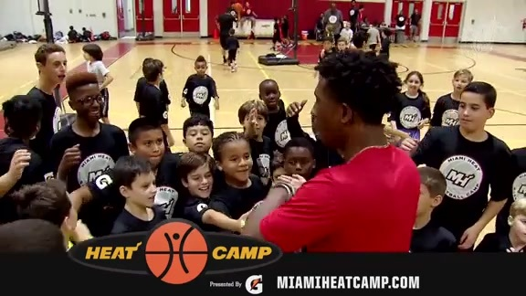 Richardson talks about the Miami HEAT Summer Camp