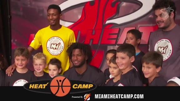 Winslow talks about the Miami HEAT Summer Camp
