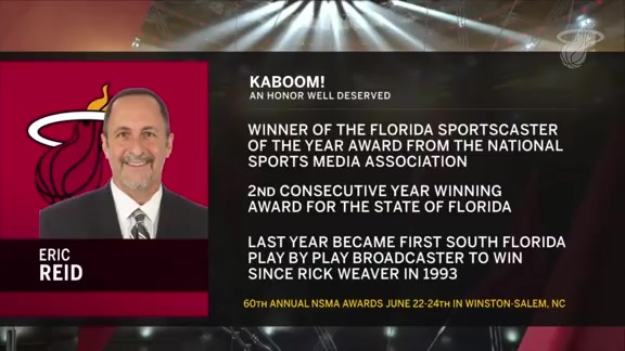 Eric Reid 2018 Florida Sportscaster of the Year