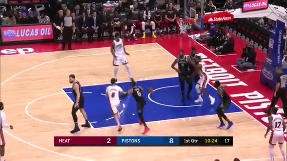 Winslow Finds Whiteside For The Jam
