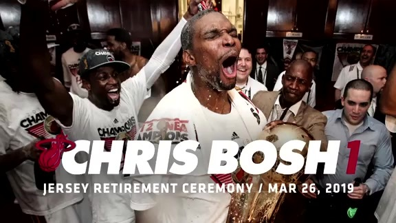 Chris Bosh Jersey Retirement Announcement