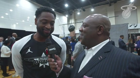 Jason Jackson Pregame With Dwyane Wade