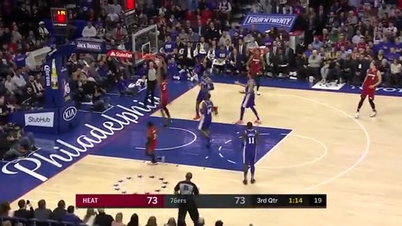 Winslow's Steal Leads To An Alley-Oop from Wade to Jones Jr.