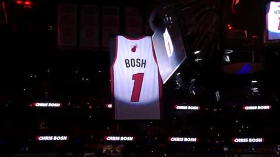 Chris Bosh Jersey Retirement Ceremony
