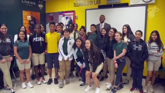 Ray Allen Visits Citrus Grove Middle School