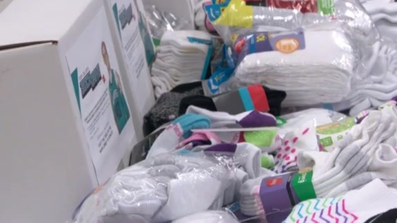CODY ZELLER DELIVERS DONATED SOCKS TO SALVATION ARMY'S CENTER OF HOPE
