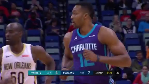 Hornets Highlights | Dwight Howard - 3/13/18