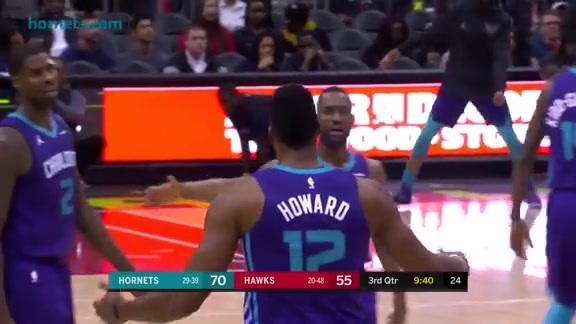 Hornets Highlights | Dwight Howard vs Hawks - 3/15/18
