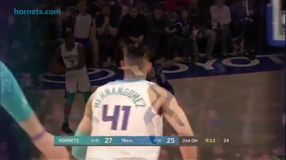 Hornets Highlights | Willy Hernangomez vs 76ers - 3/19/18