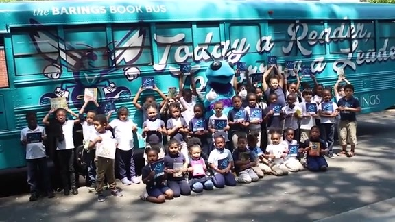 Hugo & The Barings Book Bus Perform and Donate Books to Ashley Park Elementary
