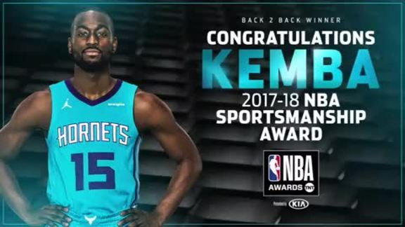 2017-18 NBA Sportsmanship Award | Kemba Walker - 6/25/18
