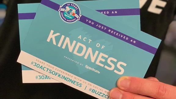 Hornets, Spectrum Team Conduct 30 Acts of Kindness