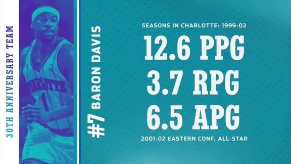 No. 7 Baron Davis - Hornets 30th Anniversary Team