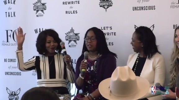2019 NBA All-Star Weekend | Hornets Executives Speak at FQ Equality Lounge  – 2/16/19