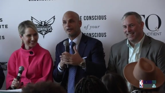 2019 NBA All-Star Weekend | Hornets Executives Speak at FQ Equality Lounge  – 2/17/19