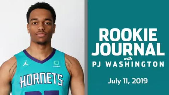 2019-20 Rookie Journal | PJ Washington - 7/11/19