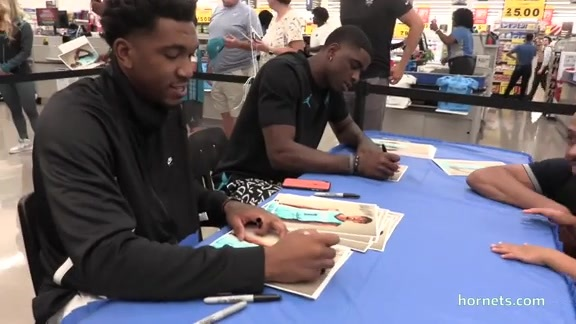 Food Lion Hosted Malik Monk and Dwayne Bacon - 8/14/19