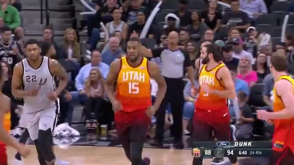 Jazz lose heartbreaker in San Antonio, 124 | 120