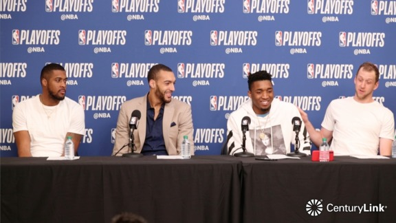 Favors, Gobert, Mitchell, Ingles Postgame - 4.27.18