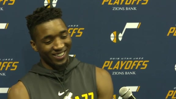Donovan Mitchell Practice Interview - 5.1.18